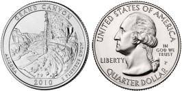 25 центов 2010 P США — Национальный парк Гранд — Каньон (Аризона)
