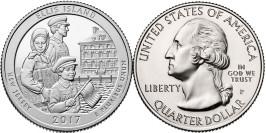25 центов 2017 P США — Национальный монумент острова Эллис (Нью — Джерси)