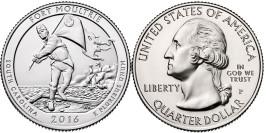 25 центов 2016 P США — Форт Молтри (Южная Каролина)