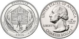 25 центов 2015 P США — Национальный монумент Гомстед (Небраска) UNC