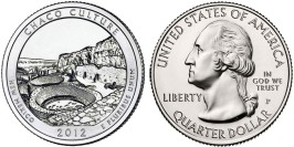 25 центов 2012 P США — Национальный исторический парк Чако (Нью-Мексико)