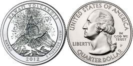 25 центов 2012 P США — Национальный парк Гавайские вулканы (Гавайи)