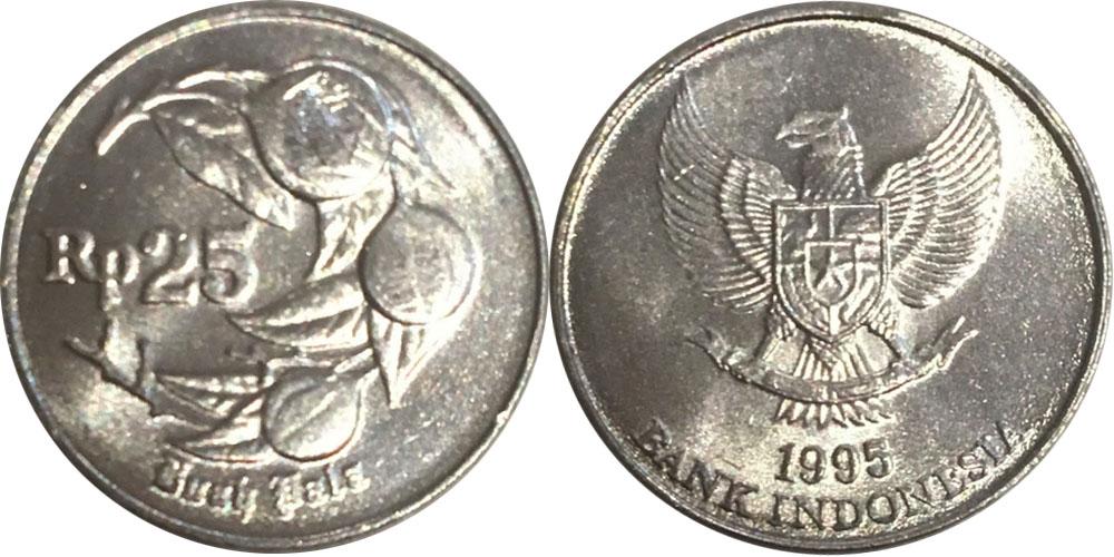 25 рупий 1995 Индонезия