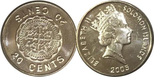 20 центов 2005 Соломоновы острова