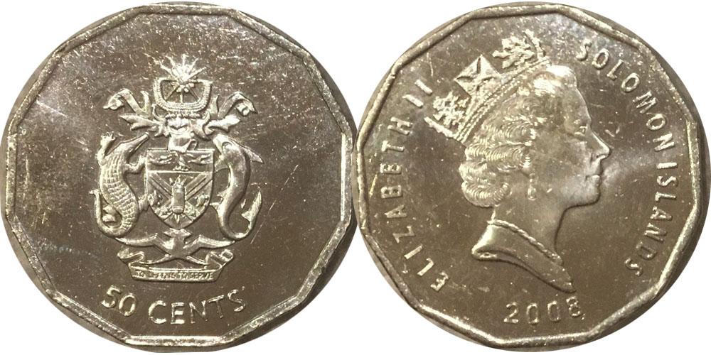 50 центов 2008 Соломоновы острова