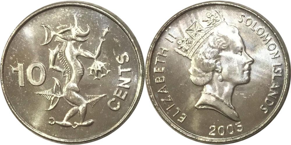 10 центов 2005 Соломоновы острова