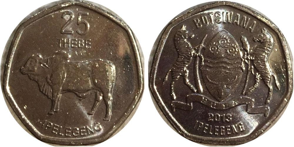 25 тхебе 2013 Ботсвана UNC