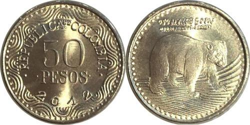 50 песо 2012 Колумбия UNC — новый образец