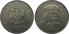 100 злотых 1986 Польша — Польские правители — Король Владислав I Локоток
