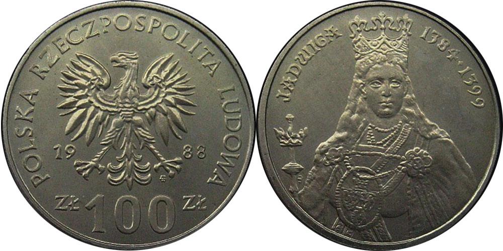100 злотых 1986 Польша — Польские правители — Королева Ядвига