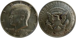 50 центов 1968 D США — Серебро