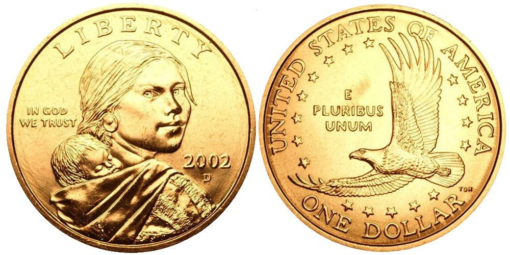 1 доллар 2002 D США  — Парящий орёл