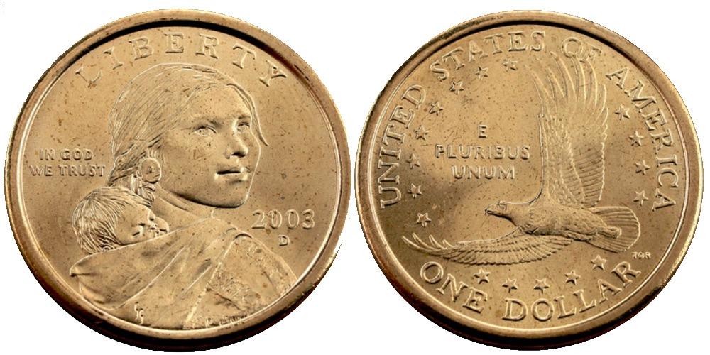 1 доллар 2003 D США  — Парящий орёл