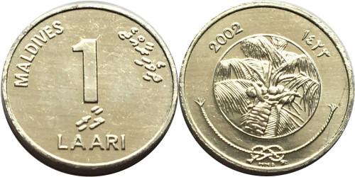 1 лари 2002 Мальдивы