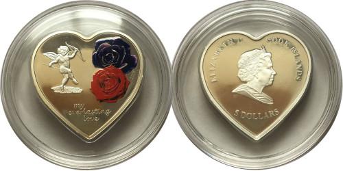 5 долларов 2008 Острова Кука — Вечная любовь — серебро