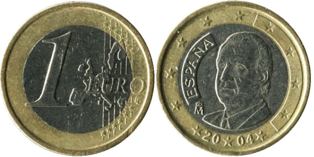 1 евро 2004 Испания