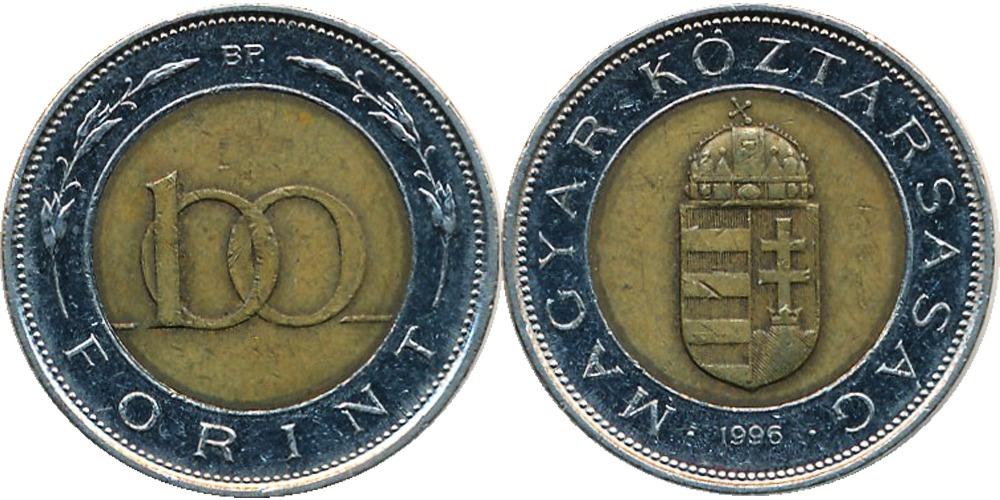 100 форинтов 1996 Венгрия