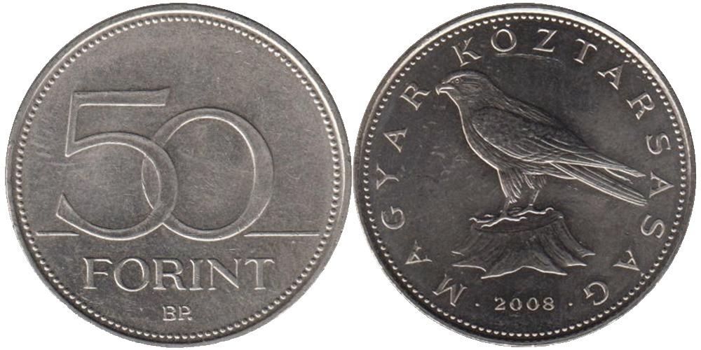 50 форинтов 2008 Венгрия