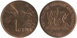 1 цент 2006 Тринидад и Тобаго — Колибри