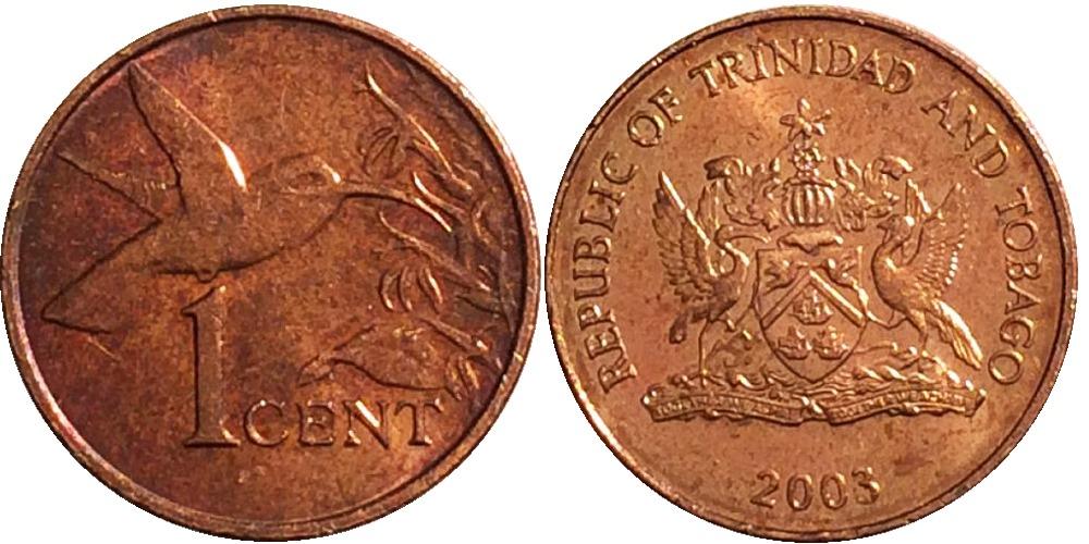 1 цент 2003 Тринидад и Тобаго — Колибри