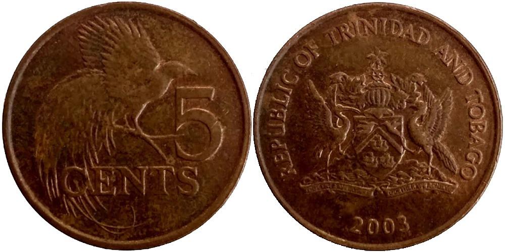 5 центов 2003 Тринидад и Тобаго — Райская птица