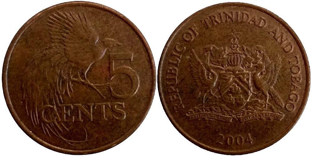 5 центов 2004 Тринидад и Тобаго — Райская птица