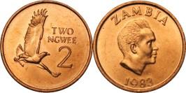 2 нгве 1983 Замбия UNC