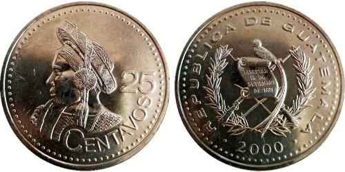25 сентаво 2000 Гватемала