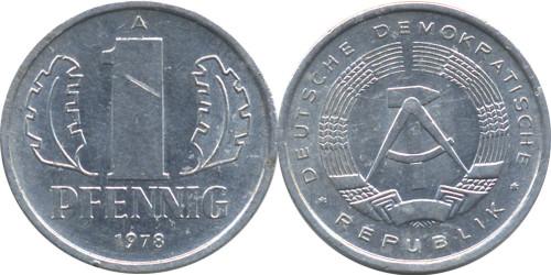 1 пфенниг 1978 «A» ГДР