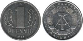 1 пфенниг 1983 «A» ГДР