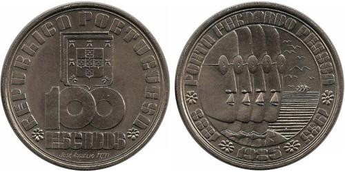 100 эскудо 1985 Португалия — 50 лет со дня смерти Фернандо Пессоа