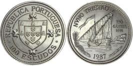 100 эскудо 1987 Португалия — Золотой век открытий — Нуну Триштан
