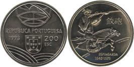 200 эскудо 1993 Португалия — Спрингальд — механическое устройство артиллерии