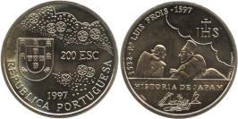 200 эскудо 1997 Португалия — 400 лет со дня смерти Луиса Фройса
