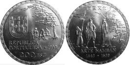 200 эскудо 1993 Португалия — 450 лет искусству намбан
