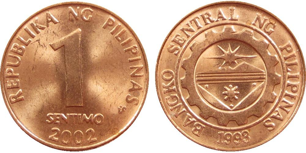 1 сентимо 2002 Филиппины