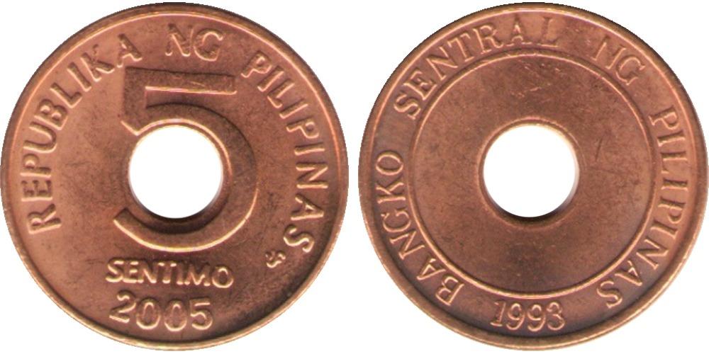 5 сентимо 2005 Филиппины UNC