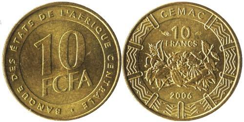 10 франков 2006 Центральная Африка (BEAC) UNC