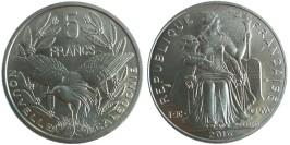 5 франков 2016 Новая Каледония UNC