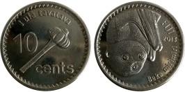 10 центов 2013 Фиджи — Летучая лисица UNC