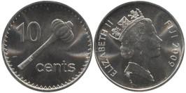 10 центов 2009 Фиджи  — Метательная дубинка ула тава-тава
