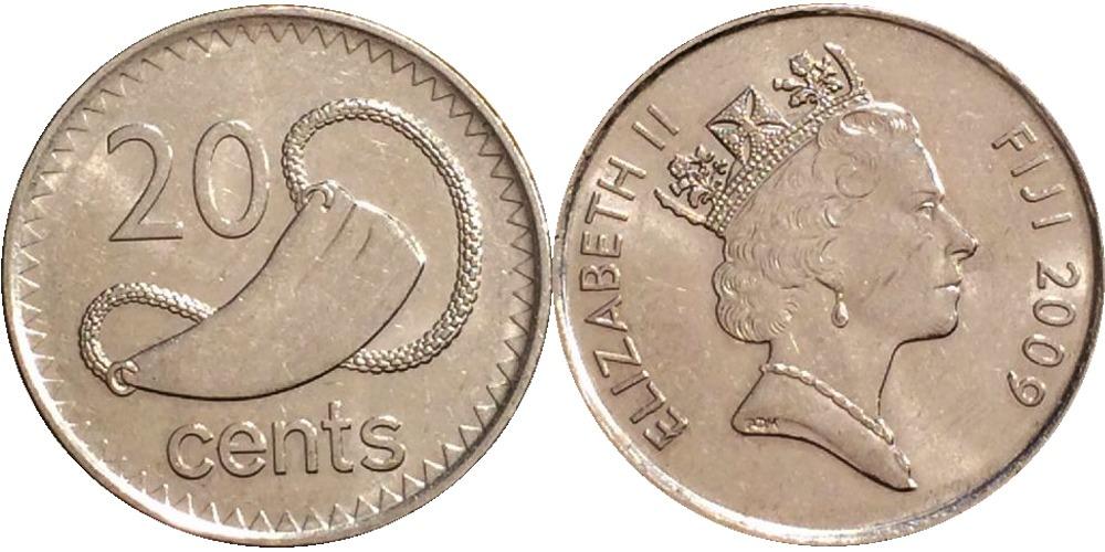 20 центов 2009 Фиджи  — Церемониальный зуб кашалота