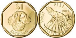1 доллар 2012 Фиджи UNC