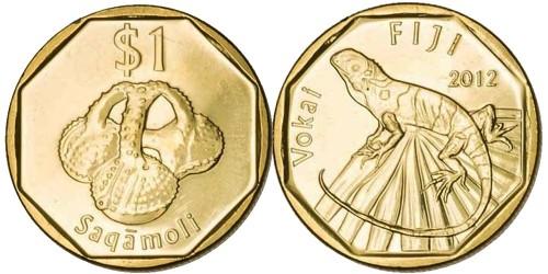 1 доллар 2012 Фиджи