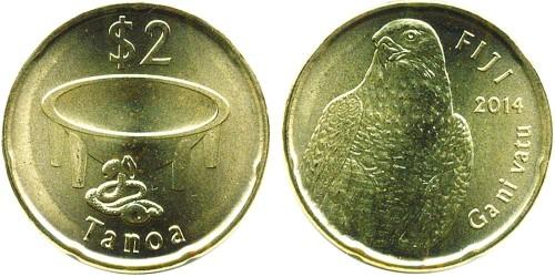 2 доллара 2014 Фиджи
