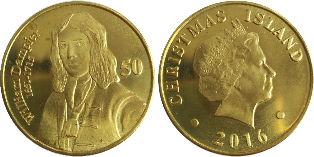 50 центов 2016 острова Рождества — Уильям Дампир UNC