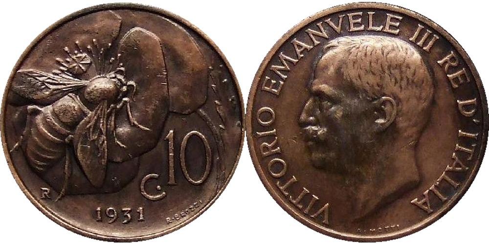 10 чентезимо 1931 Италия
