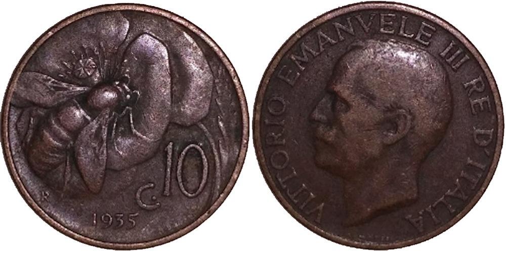 10 чентезимо 1935 Италия
