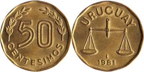50 сентесимо 1981 Уругвай