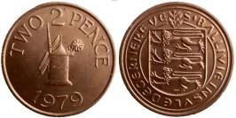 2 пенса 1979 остров Гернси